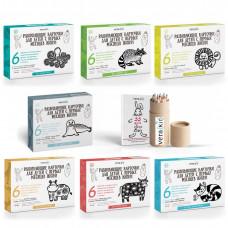 """7 наборов развивающих карточек VeraKit и Карманный набор """"Раскраска и Эко-карандаши, возьми с собой!"""""""